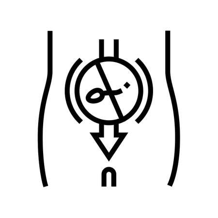 sperm sterilization line icon vector. sperm sterilization sign. isolated contour symbol black illustration