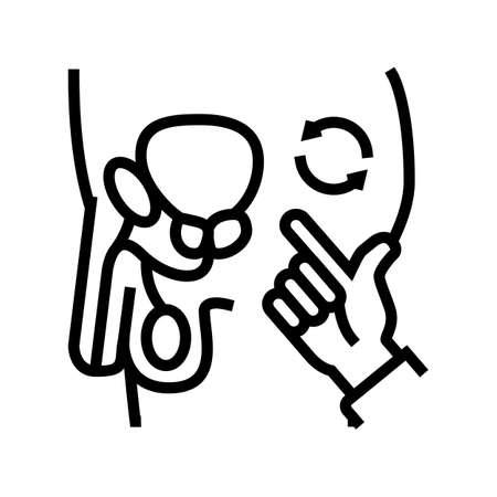 massage prostate line icon vector. massage prostate sign. isolated contour symbol black illustration