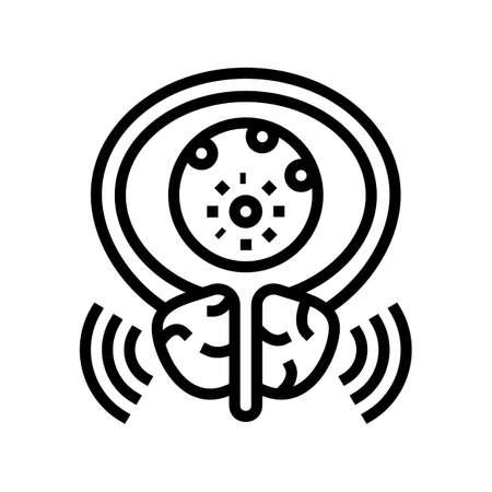 virus disease bladder line icon vector. virus disease bladder sign. isolated contour symbol black illustration Ilustrace