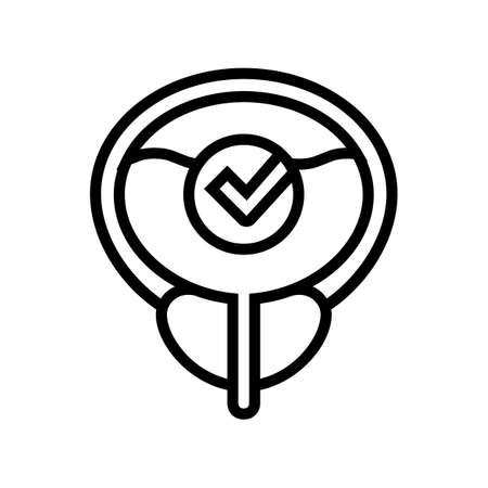 healthy bladder line icon vector. healthy bladder sign. isolated contour symbol black illustration