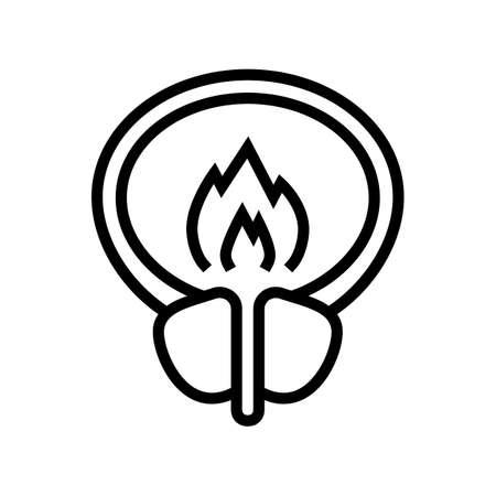 burning pain bladder line icon vector. burning pain bladder sign. isolated contour symbol black illustration Ilustrace