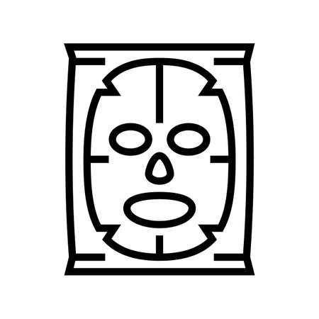 facial mask beauty accessory line icon vector. facial mask beauty accessory sign. isolated contour symbol black illustration