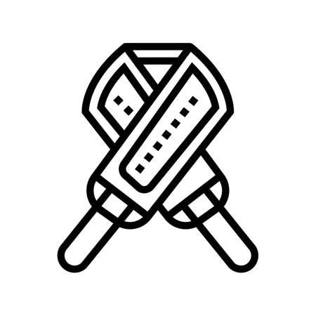loofah massager line icon vector. loofah massager sign. isolated contour symbol black illustration Vektorgrafik