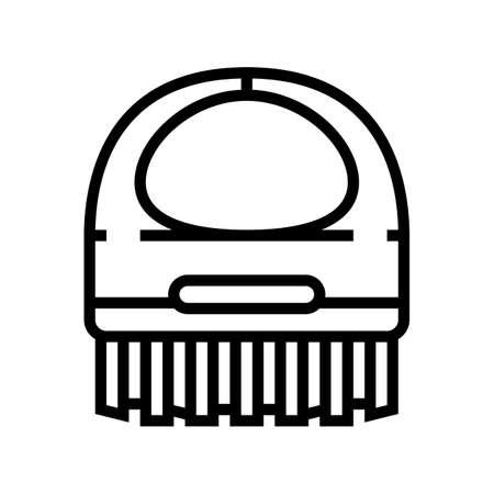 brush spa salon accessory line icon vector. brush spa salon accessory sign. isolated contour symbol black illustration