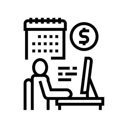 businessman trading online line icon vector. businessman trading online sign. isolated contour symbol black illustration