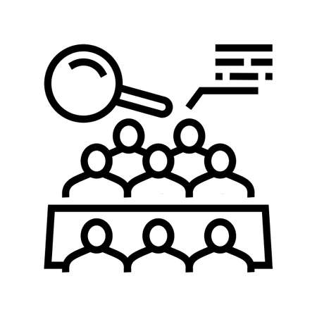 meeting of shareholders line icon vector. meeting of shareholders sign. isolated contour symbol black illustration
