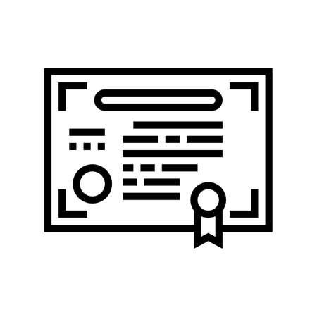 company share document line icon vector. company share document sign. isolated contour symbol black illustration Ilustrace