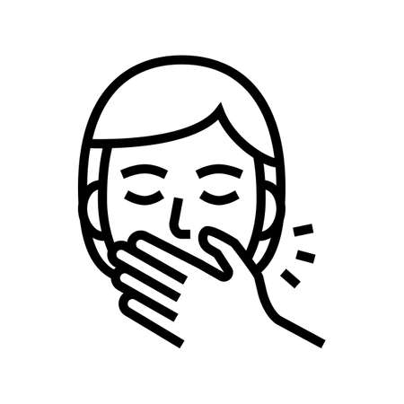shy tooth braces line icon vector. shy tooth braces sign. isolated contour symbol black illustration