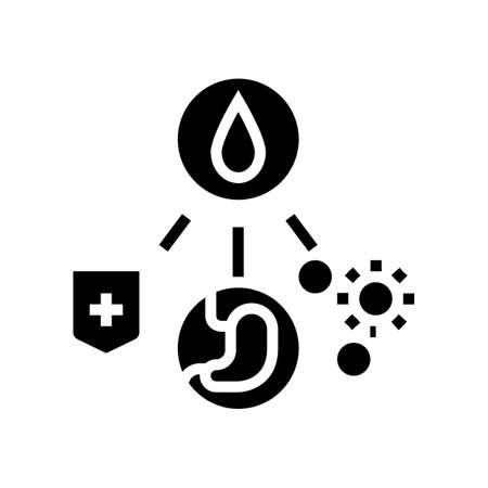 health benefits of milk glyph icon vector. health benefits of milk sign. isolated contour symbol black illustration