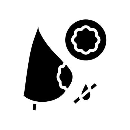 chest pad to keep milk from leaking glyph icon vector. chest pad to keep milk from leaking sign. isolated contour symbol black illustration