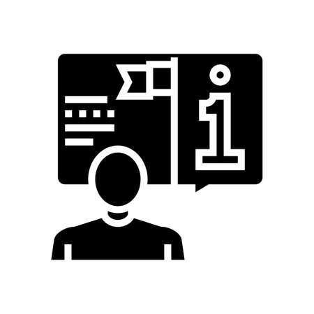 information expert glyph icon vector. information expert sign. isolated contour symbol black illustration