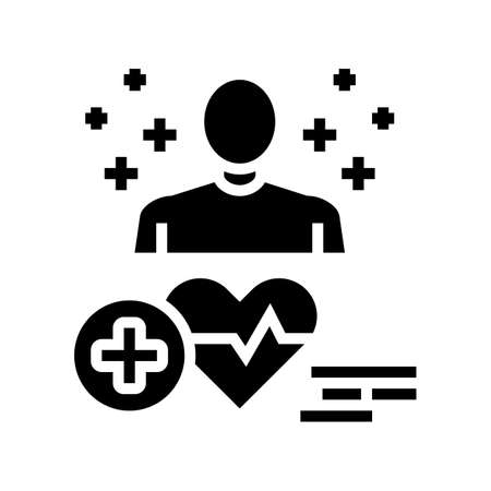 medical expert glyph icon vector. medical expert sign. isolated contour symbol black illustration