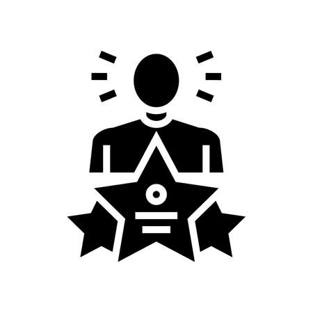 universal expert glyph icon vector. universal expert sign. isolated contour symbol black illustration