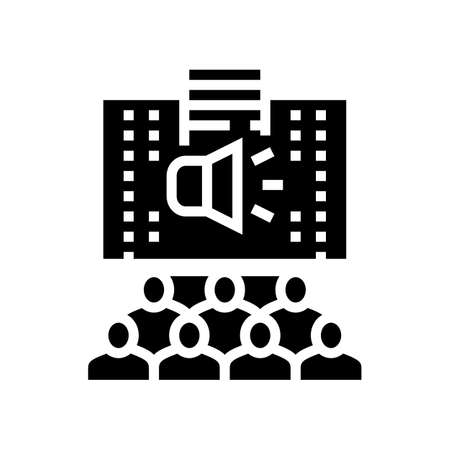 cpr cardiopulmonary resuscitation glyph icon vector. cpr cardiopulmonary resuscitation sign. isolated contour symbol black illustration Ilustrace