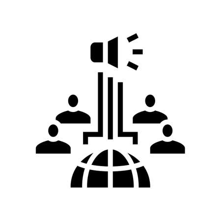 keeping communication glyph icon vector. keeping communication sign. isolated contour symbol black illustration
