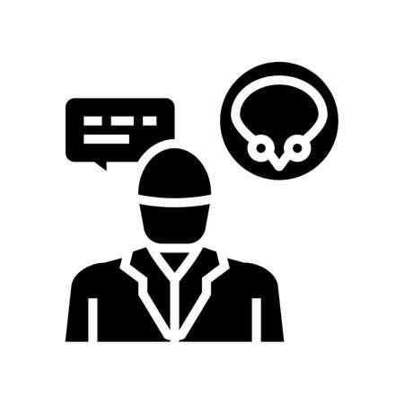 urologist doctor consultation glyph icon vector. urologist doctor consultation sign. isolated contour symbol black illustration