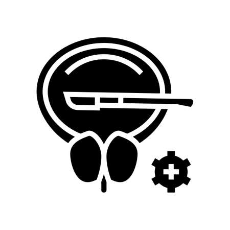 surgery bladder glyph icon vector. surgery bladder sign. isolated contour symbol black illustration