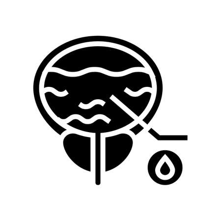 blood in urine glyph icon vector. blood in urine sign. isolated contour symbol black illustration