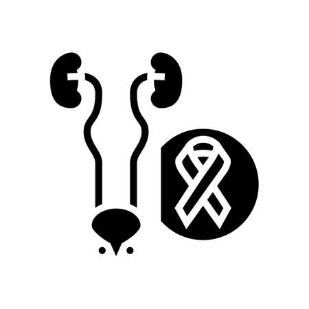 genitourinary system disease glyph icon vector. genitourinary system disease sign. isolated contour symbol black illustration Ilustrace