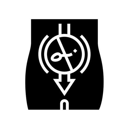 sperm sterilization glyph icon vector. sperm sterilization sign. isolated contour symbol black illustration