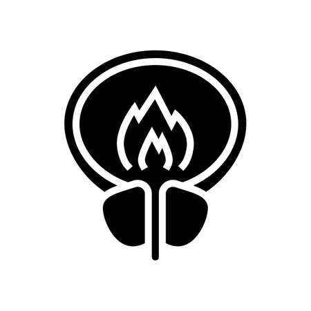 burning pain bladder glyph icon vector. burning pain bladder sign. isolated contour symbol black illustration