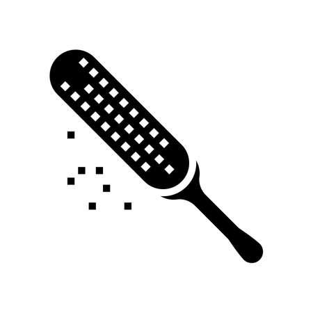 heel skin exfoliator glyph icon vector. heel skin exfoliator sign. isolated contour symbol black illustration Ilustrace