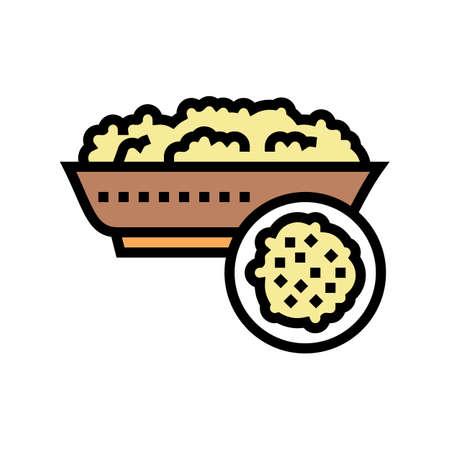 semolina groat color icon vector. semolina groat sign. isolated symbol illustration