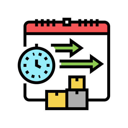 time delivery procurement color icon vector. time delivery procurement sign. isolated symbol illustration