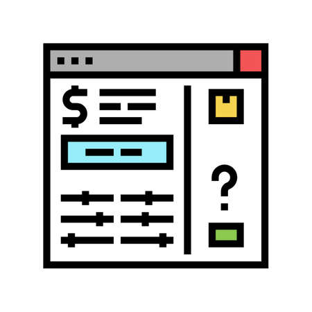 invoice approvals and disputes color icon vector. invoice approvals and disputes sign. isolated symbol illustration