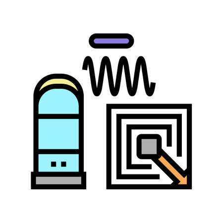 technology of rfid color icon vector. technology of rfid sign. isolated symbol illustration