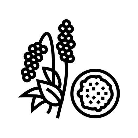 amaranth groat line icon vector. amaranth groat sign. isolated contour symbol black illustration