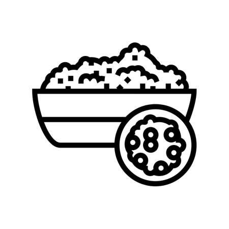 quinoa groat line icon vector. quinoa groat sign. isolated contour symbol black illustration