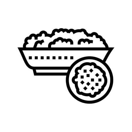 semolina groat line icon vector. semolina groat sign. isolated contour symbol black illustration