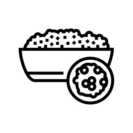couscous groat line icon vector. couscous groat sign. isolated contour symbol black illustration