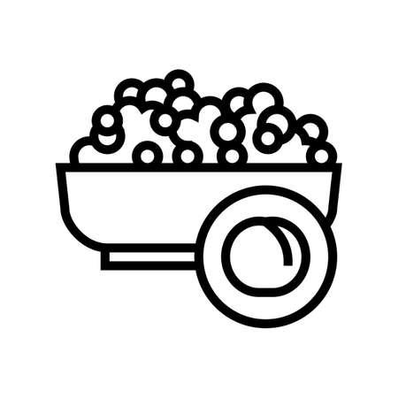 peas groat line icon vector. peas groat sign. isolated contour symbol black illustration