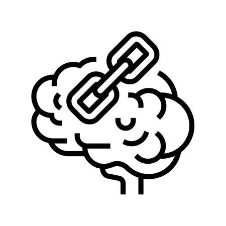 epistemology philosophy line icon vector. epistemology philosophy sign. isolated contour symbol black illustration