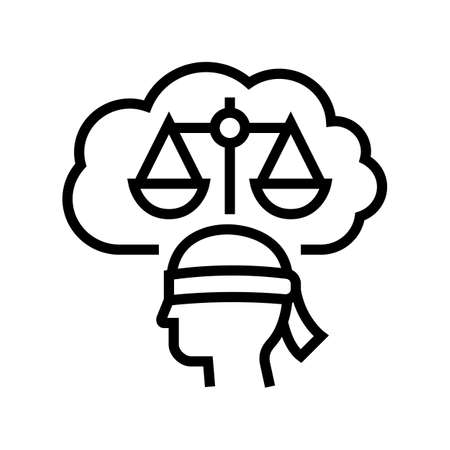 law philosophy line icon vector. law philosophy sign. isolated contour symbol black illustration Ilustrace