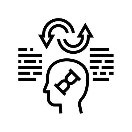 comparative philosophy line icon vector. comparative philosophy sign. isolated contour symbol black illustration Ilustrace