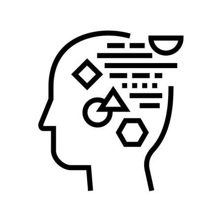 logic philosophy line icon vector. logic philosophy sign. isolated contour symbol black illustration