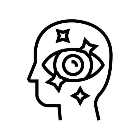 aesthetics philosophy line icon vector. aesthetics philosophy sign. isolated contour symbol black illustration