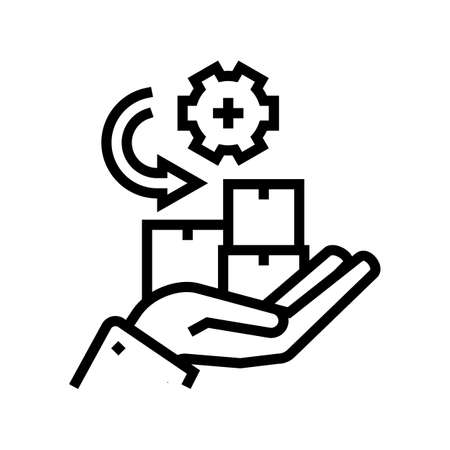 receive goods and services line icon vector. receive goods and services sign. isolated contour symbol black illustration