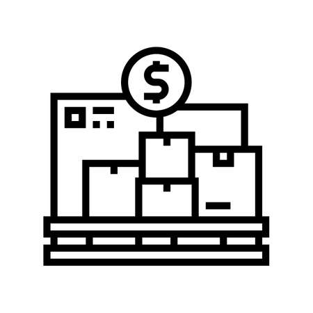 procurement service line icon vector. procurement service sign. isolated contour symbol black illustration Ilustrace