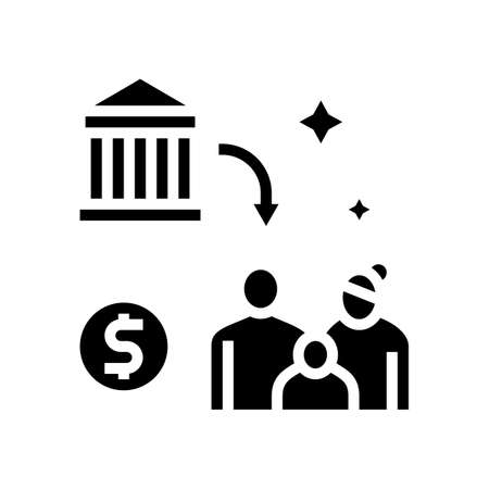 social benefits glyph icon vector. social benefits sign. isolated contour symbol black illustration
