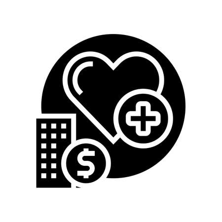 health care benefits glyph icon vector. health care benefits sign. isolated contour symbol black illustration