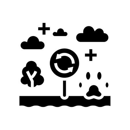 biotope ecosystem glyph icon vector. biotope ecosystem sign. isolated contour symbol black illustration