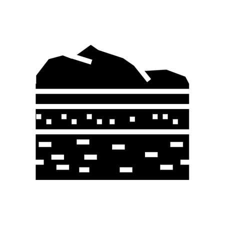 lithosphere ecosystem glyph icon vector. lithosphere ecosystem sign. isolated contour symbol black illustration
