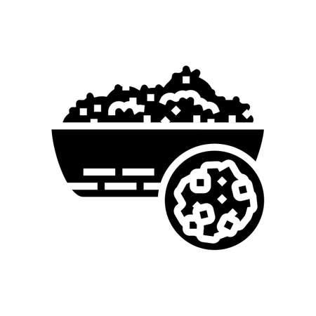 artek groat glyph icon vector. artek groat sign. isolated contour symbol black illustration