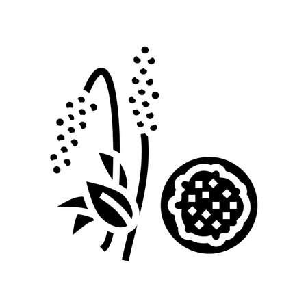 amaranth groat glyph icon vector. amaranth groat sign. isolated contour symbol black illustration