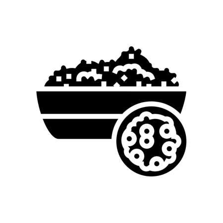 quinoa groat glyph icon vector. quinoa groat sign. isolated contour symbol black illustration