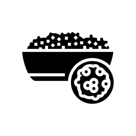 couscous groat glyph icon vector. couscous groat sign. isolated contour symbol black illustration